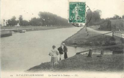 """/ CPA FRANCE 80 """"Saint Valéry sur Somme, le canal de la Somme"""""""