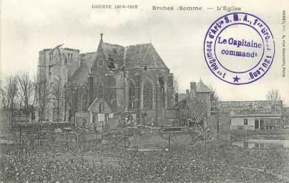 """/ CPA FRANCE 80 """"Erches, l'église"""""""
