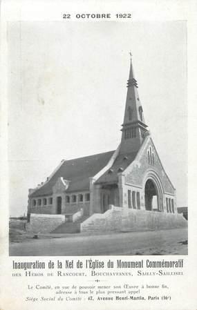 """/ CPA FRANCE 80 """"Sailly Saillisel, inauguration de la Nef de l'église du monument commémoratif"""""""