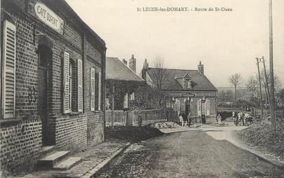"""/ CPA FRANCE 80 """"Saint Léger les Domart, route de Saint Ouen"""""""