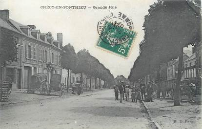 "/ CPA FRANCE 80 ""Crécy en Ponthieu, grande rue"""