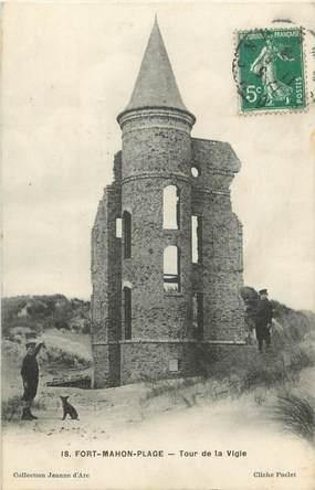 """/ CPA FRANCE 80 """"Fort Mahon plage, tour de la Vigie"""""""