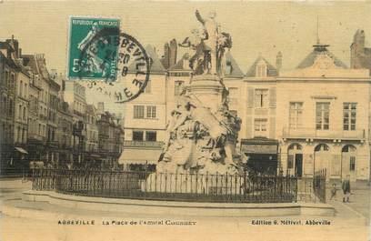 """/ CPA FRANCE 80 """"Abbeville, la place de l'Amiral Courbet"""""""