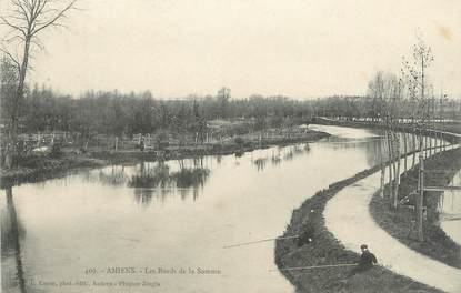 "/ CPA FRANCE 80 ""Amiens, les bords de la somme """
