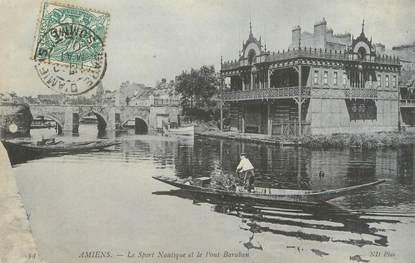 """/ CPA FRANCE 80 """"Amiens, le sport nautique et le pont Baraban"""""""