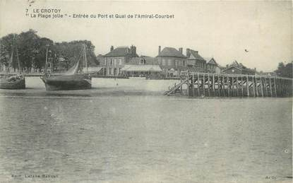"""/ CPA FRANCE 80 """"Le Crotoy, la plage jolie"""""""