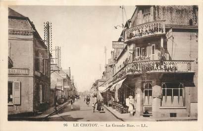 """/ CPA FRANCE 80 """"Plage du Crotoy, la grande rue"""""""