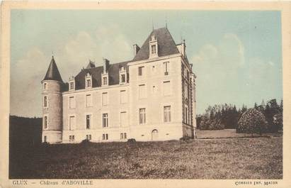 "/ CPA FRANCE 58 ""Glux, château d'Aboville"""