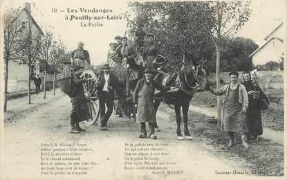 """/ CPA FRANCE 58 """"Pouilly sur Loire, la poêlée"""""""