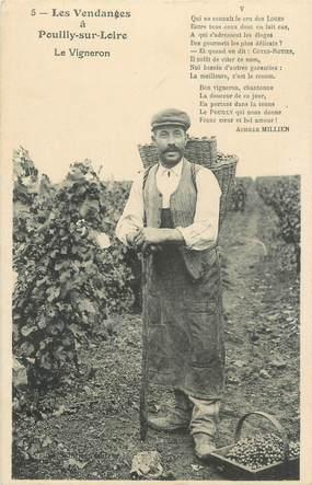 """/ CPA FRANCE 58 """"Pouilly sur Loire, le vigneron"""""""