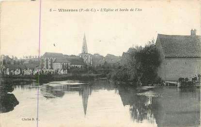 """/ CPA FRANCE 62 """"Wizernes, l'église et bords de l'Aa"""""""