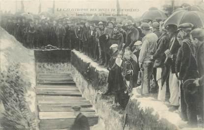 """/ CPA FRANCE 62 """"Courrières, la catastrophe des mines"""" / MINES"""