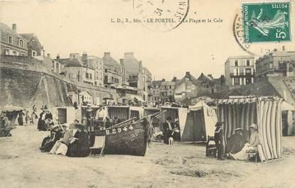 """/ CPA FRANCE 62 """"Le Portel, la plage et la Cale"""""""