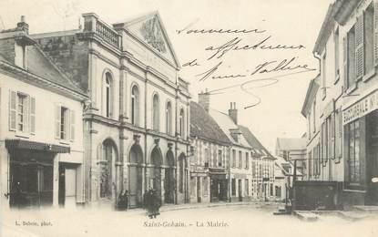 "/ CPA FRANCE 02 ""Saint Gobain, la mairie"""