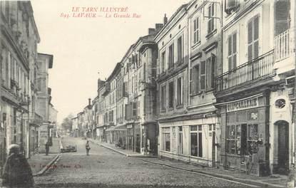 "/ CPA FRANCE 81 ""Lavaur, la grande rue"""