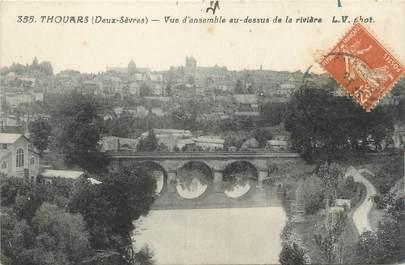 """/ CPA FRANCE 79 """"Thouars, vue d'ensemble au dessus de la rivière"""""""
