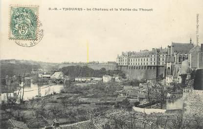 """/ CPA FRANCE 79 """"Thouars, le château et la vallée du Thouet"""""""
