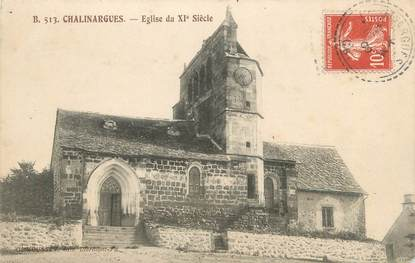 "/ CPA FRANCE 63 ""Chalinargues, l'église"""