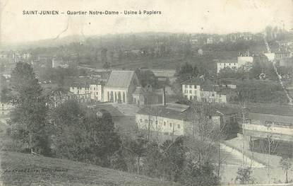 """CPA FRANCE 87 """" Saint Julien, usine à papier """""""