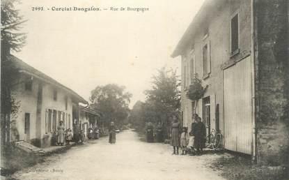 """CPA FRANCE 01 """" Curciat Dongalon, rue de Bourgogne """""""