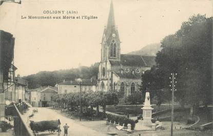 "CPA FRANCE 01 "" Coligny, monument aux morts """