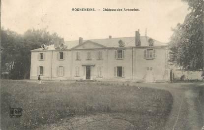 """CPA FRANCE 01 """" Mogneneins, château des Avaneins """""""