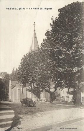 """CPA FRANCE 01 """" Seyssel, la place de l'église """""""