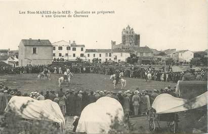 """CPA FRANCE 13 """" Saintes Maries de la Mer, course de chevaux """""""