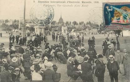 """CPA FRANCE 13 """" Marseille, exposition d'électricité 1908 """""""
