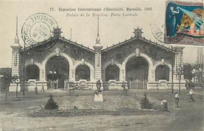 """CPA FRANCE 13 """" Marseille, exposition internationale d'électricité 1908 """""""