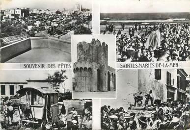"""CPSM FRANCE 13 """" Saintes Maries de la Mer """" / GITANS"""