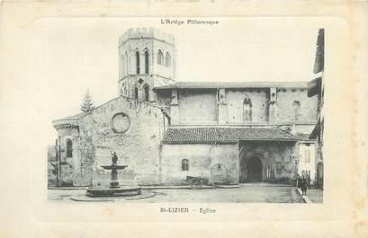 """CPA FRANCE 09 """" Saint Lizier, église """""""