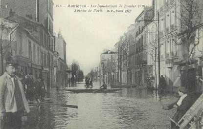 """CPA FRANCE 92 """" Asnières, inondations janvier 1910 """""""