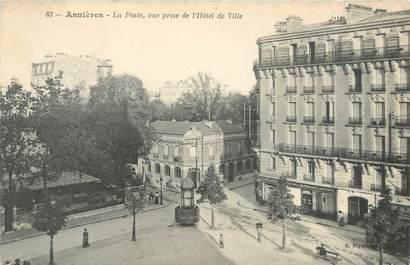 """CPA FRANCE 92 """" Asnières, la poste """""""