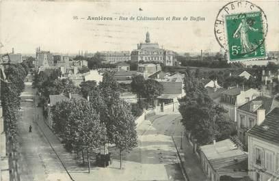 "CPA FRANCE 92 "" Asnières, rue de Châteaudun, rue de Buffon """