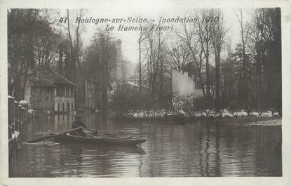 "CPA FRANCE 92 "" Boulogne Billancourt, inondation 1910 """