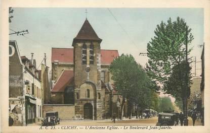 """CPA FRANCE 92 """" Clichy, église """""""