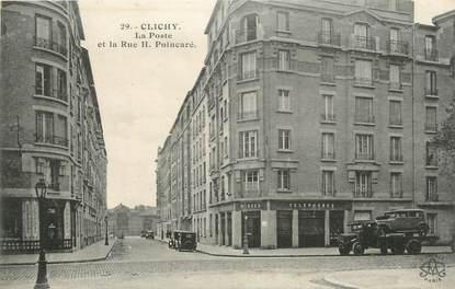 "CPA FRANCE 92 "" Clichy, la poste """