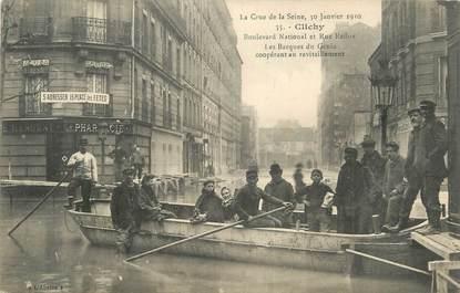 "CPA FRANCE 92 "" Clichy, rue Reflux, la barque du Genie coopérant au ravitaillement """