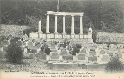 "CPA FRANCE 92 "" Meudon, monument aux morts """