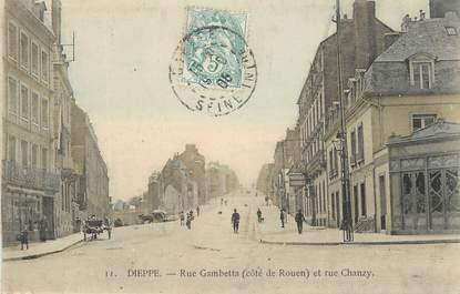 "CPA FRANCE 76 "" Dieppe, rue Gambetta, rue Chanzy """
