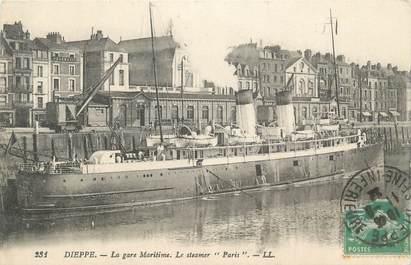 """CPA FRANCE 76 """" Dieppe, la gare maritime """""""