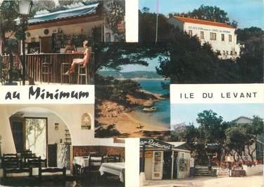 """/ CPSM FRANCE 83 """"Ile du Levant, hôtel bar restaurant au minimum"""""""