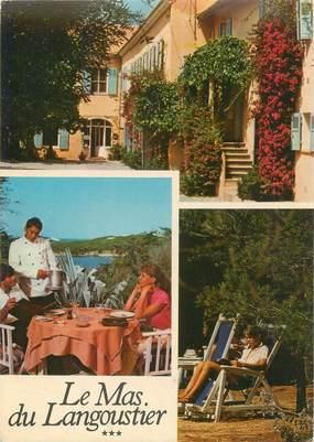 """/ CPSM FRANCE 83 """"Ile de Porquerolles, hôtel restaurant Le Mas du Langoustier"""""""