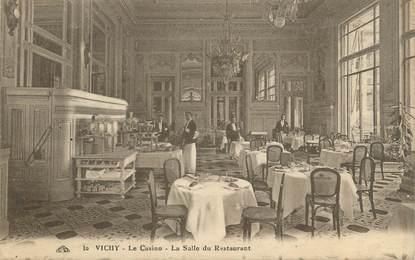 "/ CPA FRANCE 03 ""Vichy, le casino, la salle du restaurant"""