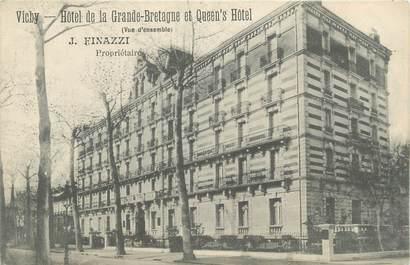 """/ CPA FRANCE 03 """"Vichy, hôtel de la Grande Bretagne et Queen's Hôtel"""""""