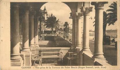 """/ CPA FRANCE 06 """"Cannes, vue prise de la terrasse du Palm Beach"""""""
