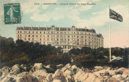 "/ CPA FRANCE 06 ""Menton, grand hôtel du Cap Martin"""