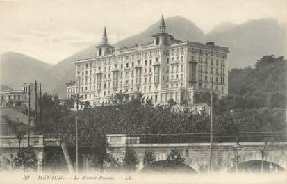 "/ CPA FRANCE 06 ""Menton, le Winter Palace"""