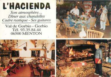 "/ CPSM FRANCE 06 ""Menton, restaurant l'Hacienda"""